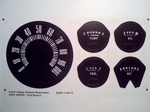 Early Bronco Black Vinyl Decal Set Image