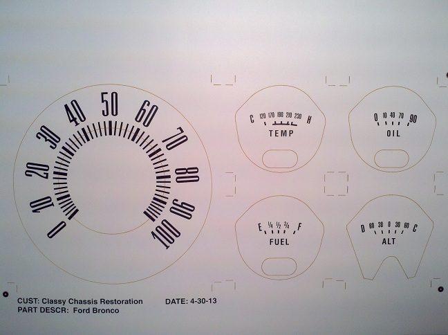Early Bronco White Vinyl Decal Set Image